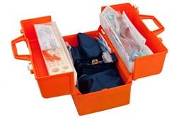 Набор реанимационный для оказания скорой медицинской помощи НРСП-01-«МЕДПЛАНТ» в футляре-саквояже УМСП-01-П с набором для коникотомии с аспиратором - фото 4693