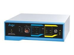 Видеокамера для гибкой эндоскопии с функцией осветителя и металлогалоидным источником света ЭВК-01-АКСИ тип 8 (видеокомплекс мод.2304-1,  лампа 35Вт, видеоэндоскопия/фиброскопия, с комплектом переходников под фиброскопы ЛОМО, Olympus, Pentax, с камерной - фото 5808
