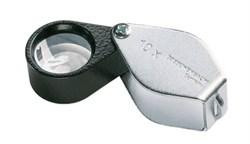 Лупа техническая складная апланатическая в металлическом корпусе Metal precision folding magnifiers, диаметр 21 мм, 8.0х - фото 6264