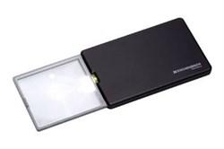 Лупа выдвижная асферическая дифракционная со светодиодной подсветкой  easyPOCKET, 50х45 мм, 3.0х (8.0 дптр), цвет черный - фото 6298