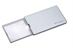 Лупа выдвижная асферическая дифракционная со светодиодной подсветкой  easyPOCKET, 50х45 мм, 3.0х (8.0 дптр), цвет серебро - фото 6299