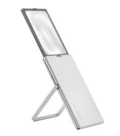 Лупа выдвижная асферическая дифракционная со светодиодной подсветкой  easyPOCKET XL, 78х50 мм, 2.5х (6.0 дптр), цвет серебро - фото 6302
