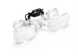 Бинокулярная асферическая насадка на очки для просмотра телевизора maxTV Clip, 2.0х - фото 6320