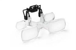 Бинокулярная асферическая насадка на очки для работы с мелкими предметами maxDETAIL Clip, 2.0х - фото 6323