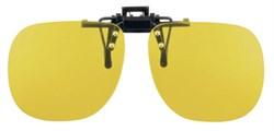 Насадка на очки со светофильтрами на клипсе Cut-off filter clip-ons, 450 нм, светопропускание 85%, категория 0, подходят для водителей - фото 6350