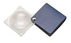 Лупа складная двояковыпуклая economy, диаметр 45 мм, 3.5х (10.0 дптр), цвет голубой, форма квадратная - фото 6358