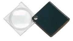 Лупа складная двояковыпуклая economy, диаметр 45 мм, 3.5х (10.0 дптр), цвет черный, форма квадратная - фото 6359