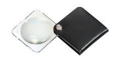Лупа складная двояковыпуклая classic, диаметр 50 мм, 3.5х (10.0 дптр), цвет черный, форма квадратная - фото 6372