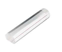 Лупа линейка настольная светопольная плосковыпуклая с красной направляющей линией, 122 х 26 мм, 1:2.0 - фото 6384