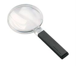 Лупа ручная двояковыпуклая economic, диаметр 120 мм, 1.9х (3.4 дптр), шнурок на шею - фото 6398
