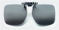 Насадка на солнцезащитные очки с поляризационными серыми светофильтрами на клипсе Polarised clip-on sunglasses, светопропускание 15%, категория 3, не подходят для водителей - фото 6424