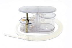 Аспиратор портативный с механическим приводом АПМ-МП-1 с дополнительным стаканом для сбора жидкости