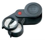 Лупа техническая складная ахроматическая в пластиковом корпусе Plastic precision folding magnifiers, диаметр 23 мм, 3.0х; 6.0х; 9.0х