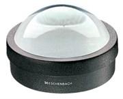Лупа настольная светопольная плосковыпуклая стеклянная bright field с красной направляющей линией, диаметр 65 мм, 1:1.8