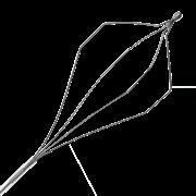 Корзинка эндоскопическая Wilson Instruments, для экстракции, одноразовая, гексагональная, сталь (упаковка - 5 шт.)